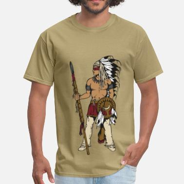 Lakota Indian Warrior - Men's T-Shirt