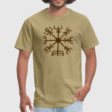 Germanic Vegvisir, Magical Runes, Protection & Navigation - Men's T-Shirt