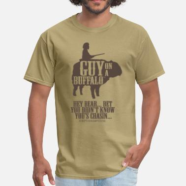 Guy Bears The Possum Posse Guy On a Buffalo-Bear T-Shirts - Men's T-Shirt