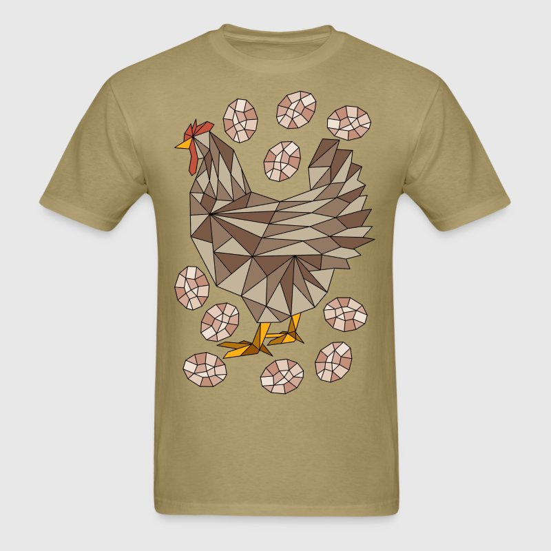 Geometric Chicken And Eggs - Men's T-Shirt