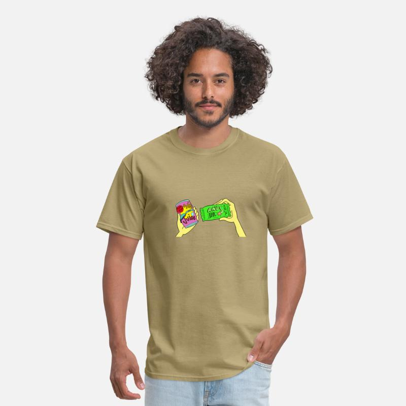 Anus Bar T-Shirts - Umbrella Juice / Anus Bar - Men's T-Shirt khaki
