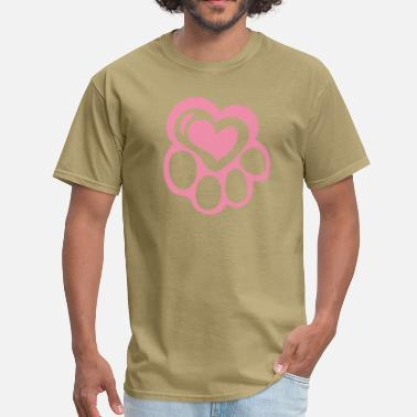 Paws-heart Paw at Heart - Men's T-Shirt