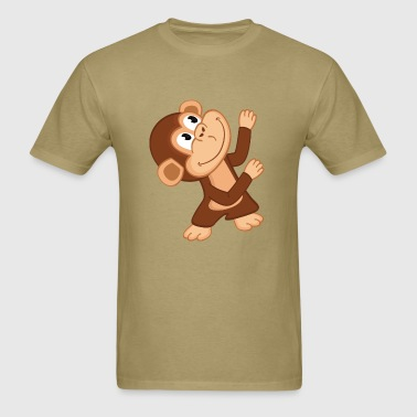 monkey dancing up - Men's T-Shirt