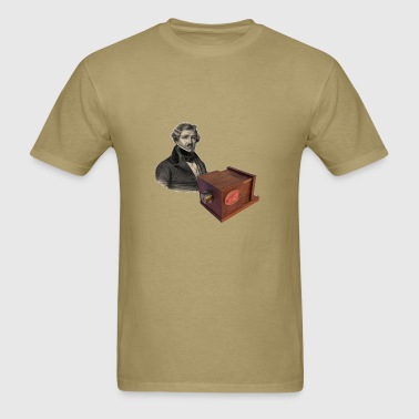 Daguerre and the Giroux Daguerreotype Camera - Men's T-Shirt