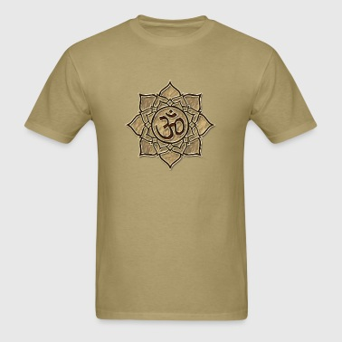 Aum Om Ohm ॐ Lotus transcendent primordial sound - Men's T-Shirt