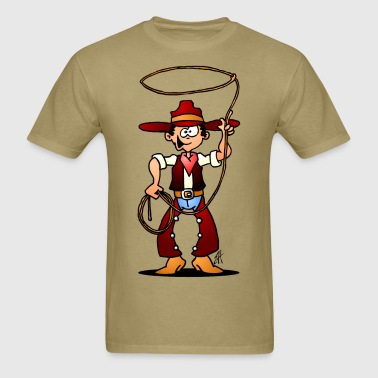 Cowboy with a lasso - Men's T-Shirt