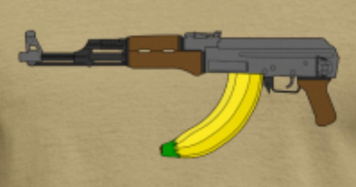 Ak 47 With Banana Clip By Mac1ne Spreadshirt