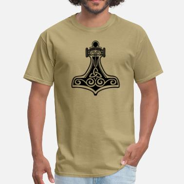 Viking Magic Hammer Thorhammer, Symbol - Force, Strength & Courage/ - Men's T-Shirt