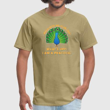 Reggae Techno Electro What's Up! I'm A Peacock! Walk Into Club Like Gift - Men's T-Shirt