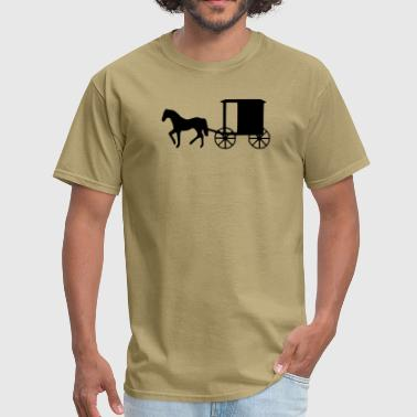 horse and buggy 1_ - Men's T-Shirt