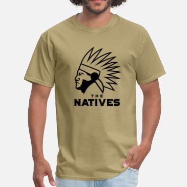 Sacajawea The Natives Retro Style - Men's T-Shirt
