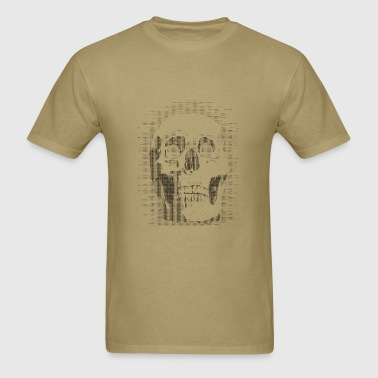 skull ascii - Men's T-Shirt