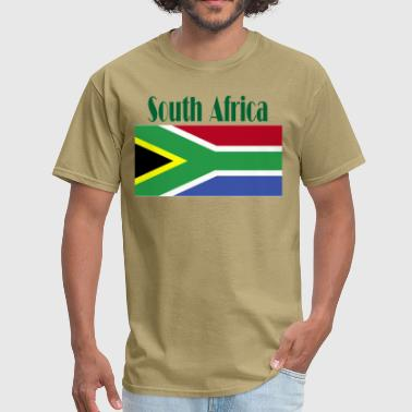 Proud South African South African Flag - Men's T-Shirt