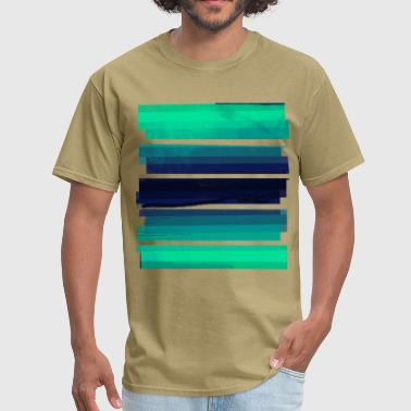 Light Green Gradient Stripes - Men's T-Shirt