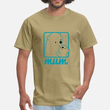 Mummy Bear Bear Cute Mummy - Men's T-Shirt