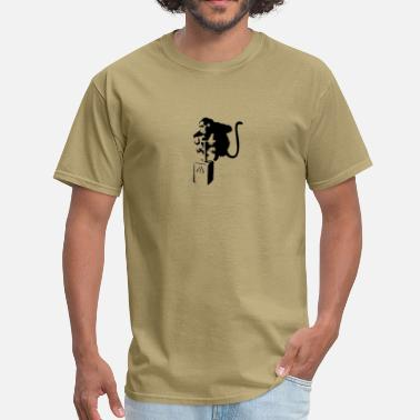 Monkey Graffiti Monkey - Men's T-Shirt
