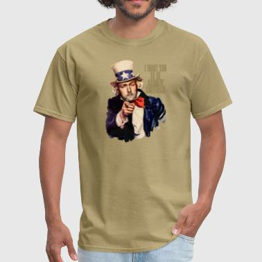 Andrew Breitbart Andrew Breitbart as Uncle Sam - Men's T-Shirt