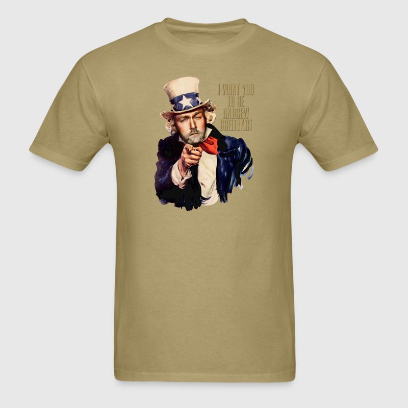 Andrew Breitbart as Uncle Sam - Men's T-Shirt