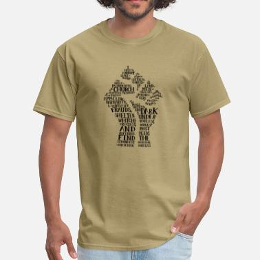 Black History Month Raised Fist quote-cloud by Tai's Tees - Men's T-Shirt