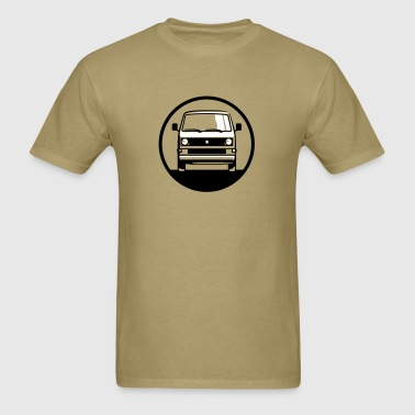 T3.1 Bus (front + your Text) - Men's T-Shirt