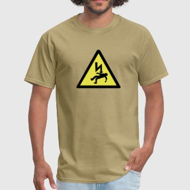 Electric Shock Danger of electric shock. - Men's T-Shirt