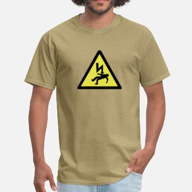 Shock Danger of electric shock. - Men's T-Shirt
