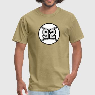 92 Baseball Raster 3_color TAS - Men's T-Shirt