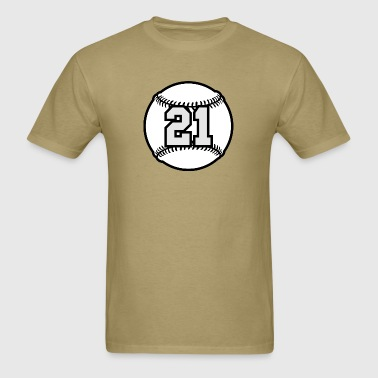 21 Baseball Raster 3_color TAS - Men's T-Shirt