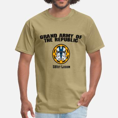 Clone Star Wars 501st legion Military t shirt - Men's T-Shirt