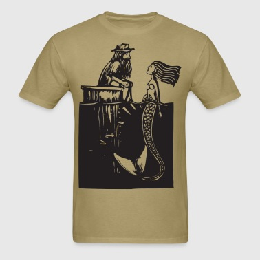 Man and Mermaid - Men's T-Shirt