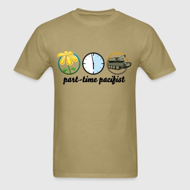 part time pacifist - Men's T-Shirt