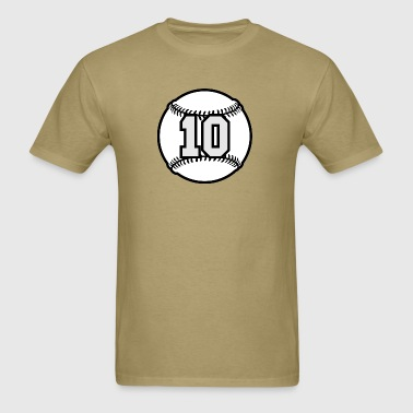 10 Baseball Raster 3_color TAS - Men's T-Shirt