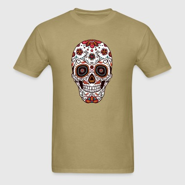 Sugar Skull - Day of the Dead #7 - Men's T-Shirt