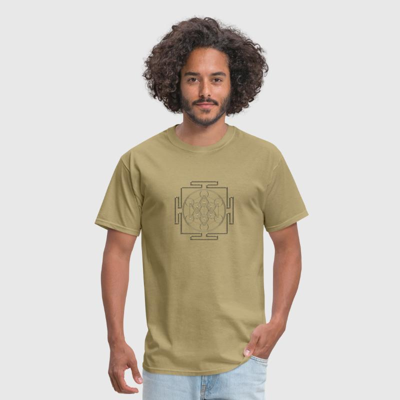 Yantra - Metatron`s Cube - Flower of Life / - Men's T-Shirt