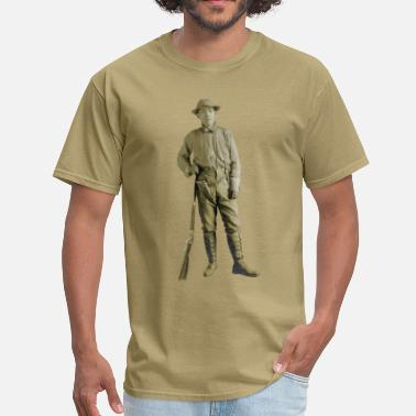 Armed Vintage Armed Japanese Man with Rifle and Pistol - Men's T-Shirt