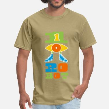 One Eyed One Eyed Robot Logo - Men's T-Shirt