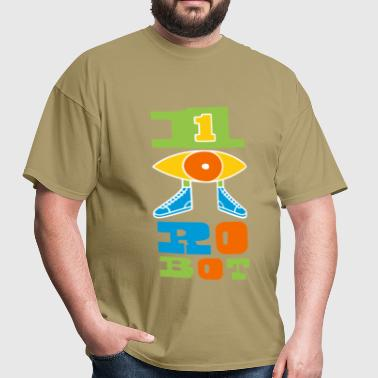 One Eyed Robot Logo - Men's T-Shirt
