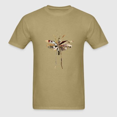 collage art GRASSHOPPER - Men's T-Shirt