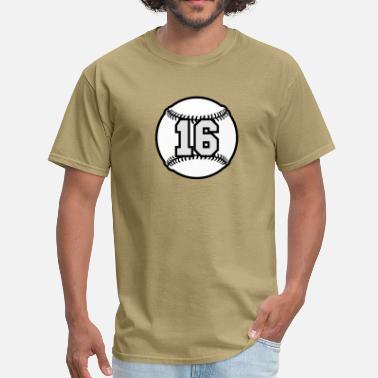 6bc2a67fe 16th Birthday 16 Baseball Raster 3_color TAS - Men's T-Shirt