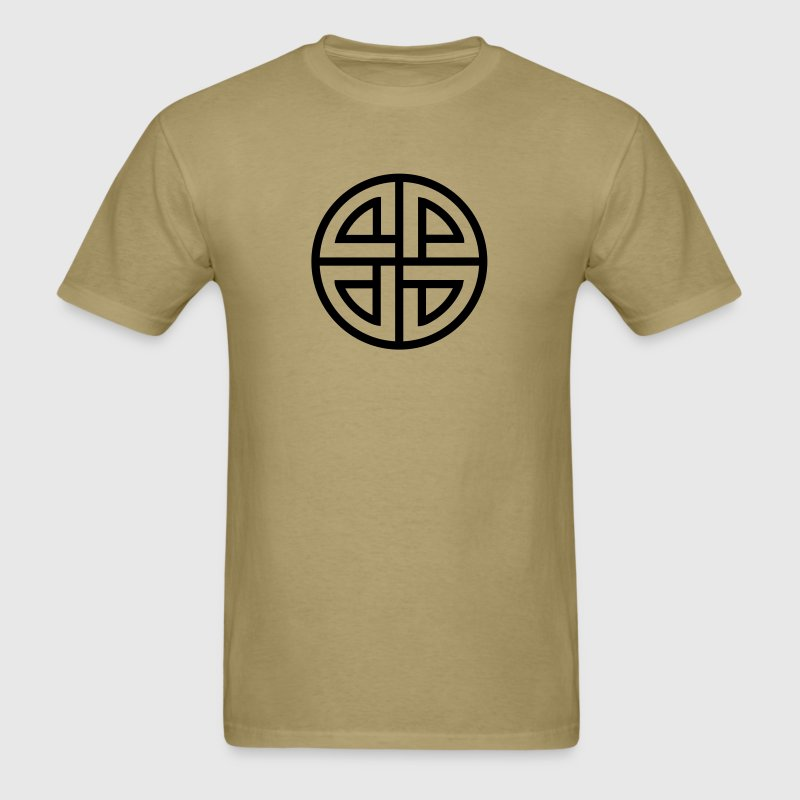 Celtic Shield Knot, Protection, Four Corner, Norse - Men's T-Shirt