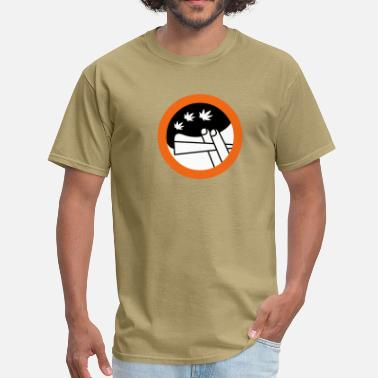 Humour roadsign spliff - Men's T-Shirt