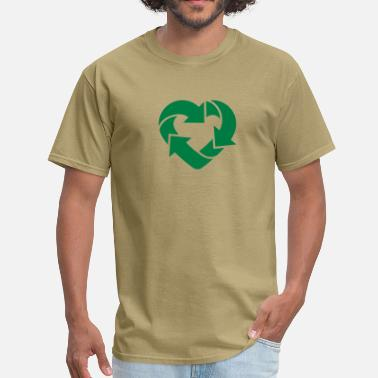 Gays Gang Bang Recycling Heart 2c - Men's T-Shirt