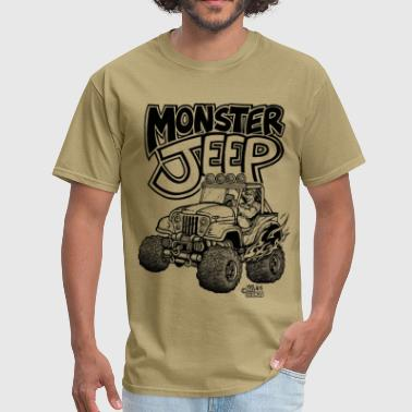 Monster Jeep with Lights.png - Men's T-Shirt