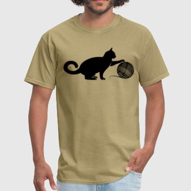 Cat play the Wool - Men's T-Shirt