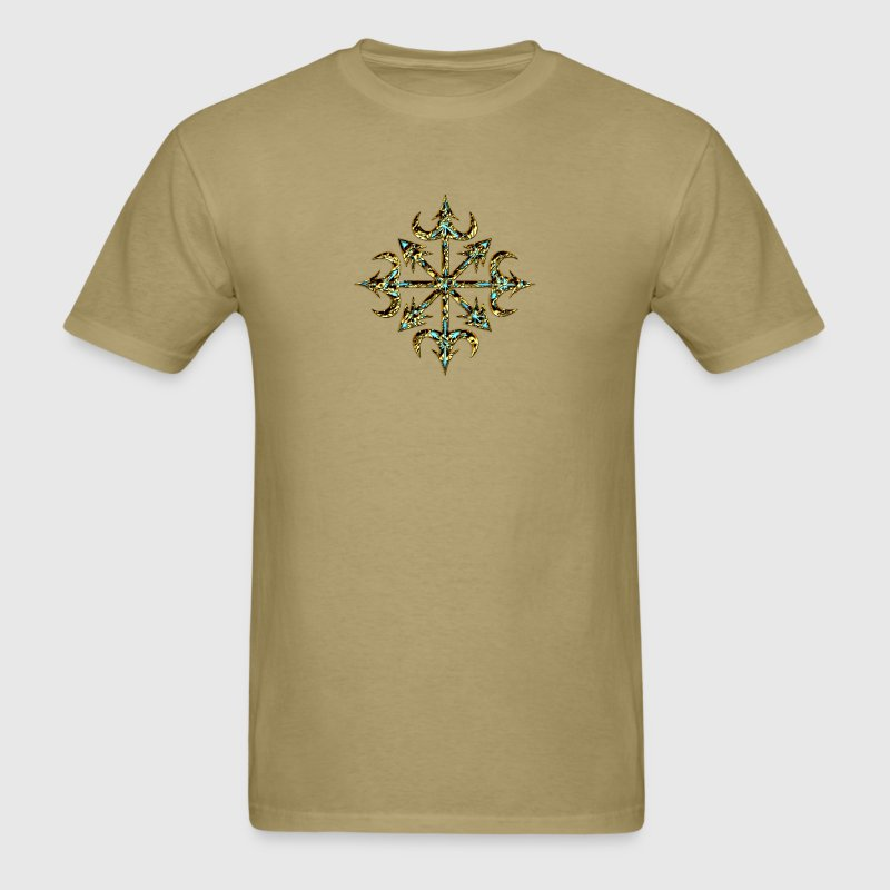 Chaos Star, Symbol of chaos, gold, Everything has meaning and magic power! Power symbol, Energy symbol - Men's T-Shirt
