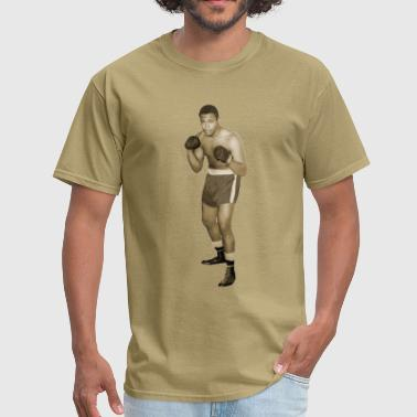 Vintage African American Boxer in Boxing Pose - Men's T-Shirt