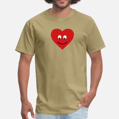 Smile heart head - Men's T-Shirt