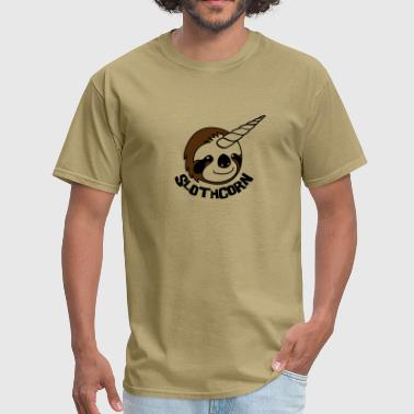 Sloth Cartoon Slothcorn  - Men's T-Shirt