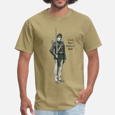 Civil War Confederate Soldier Civil War Soldier History Buff - Men's T-Shirt
