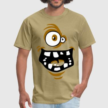 Funny face brown - Men's T-Shirt
